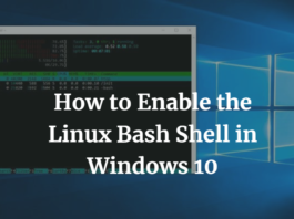 How to Enable the Linux Bash Shell in Windows 10