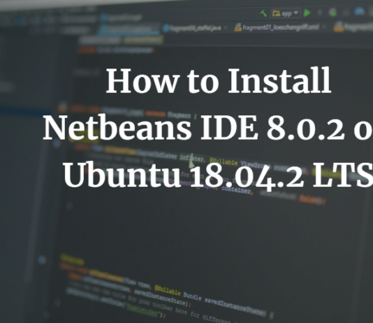 How to Install Netbeans IDE 8.0.2 on Ubuntu 18.04.2 LTS