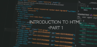 Introduction to HTML Part 1